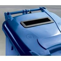 Blue Confidential Wheelie Bin 240 Ltr