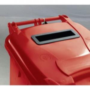 Confidential Waste Wheelie Bin 240Lt Red