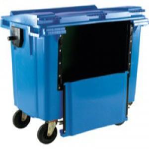 Blue Wheeled Bin 770Ltr Drop Down Front
