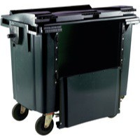Grey Wheeled Bin 770Ltr Drop Down Front