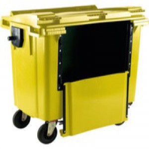 Yllw Wheeled Bin 770Ltr Drop Down Front