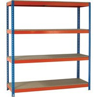 Orange/Zinc 2500X2100Xd600mm Shelving