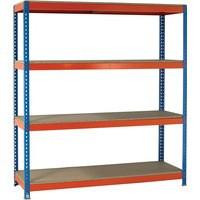 Orange/Zinc 2500X2100Xd900mm Shelving
