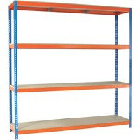 Orange/Zinc 2500X1800Xd600mm Shelving