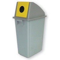 Yellow Rcyc Container 60Ltr Bottle Lid