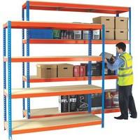 Orange/Zinc H/Duty 150x75cm Shelf 378854