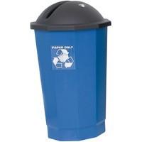 VFM Black/Blue Recycling Paper Bank