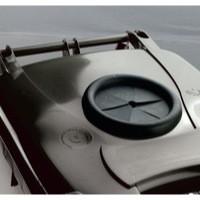 Grey Wheelie Bin 120L /Bottle Lid Lock