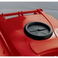 Red Wheelie Bin 120L Bottle Lid Lock