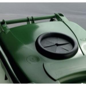 Green Wheelie Bin 240L Bottle Lid Lock