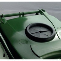 Green Wheelie Bin 240L /Bottle Lid Lock