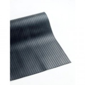 Broad Ribbed Black 3mm 900mmX10m Mat