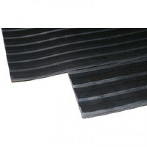 Black Broad 3mm 900x1000mm Ribbed Mat
