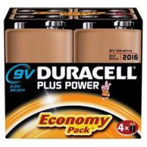 Duracell Plus Battery 9V Pk4