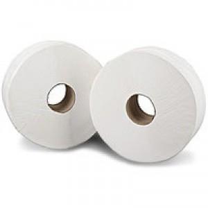 2Work Jumbo Toilet Roll 2 Ply Pk 6