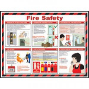 Health/Safety Fire Safe 420x594mm Poster
