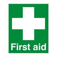 First Aid 100x250mm PVC Sign