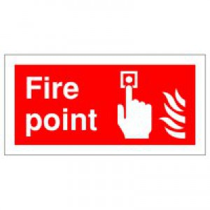 Fire Point 100x200mm Self-Adh Sign