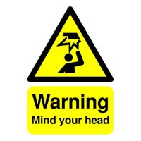 Warning A5 PVC Mind/Head Sign