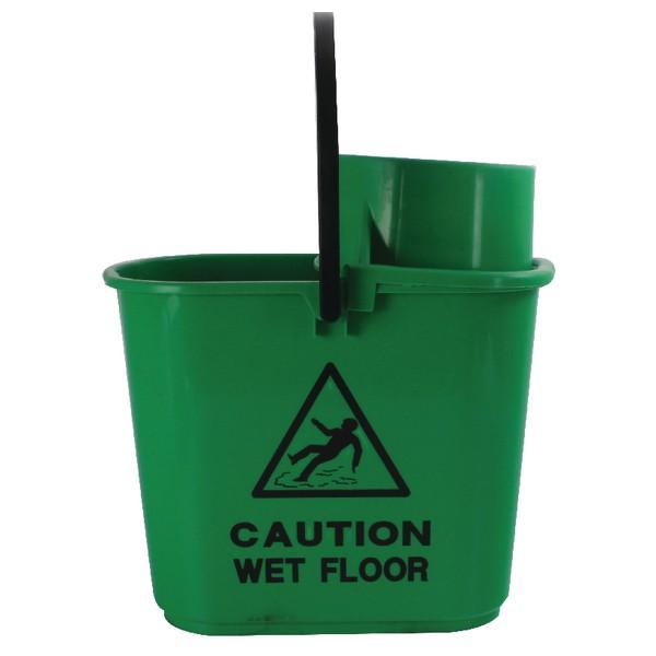 2Work Plastic Grn Mop Bucket Wringer15L