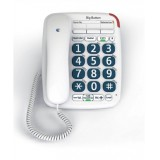 Image for BT Big Button 200 Corded Telephone 13 Memories Handsfree Option White Ref 061130