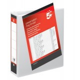 Image for 5 Star Presentation Ring Binder PVC 2 D-Ring 50mm Size A4 White Ref 36142 [Pack 10]