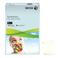 Xerox Symphony Pastel Tints Ivory Ream A4 Paper 80gsm  (Pack of 500)