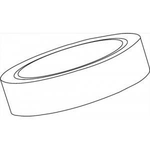 Image for Basics Clear Tape 25mmx66m Polypropylene [Pack 6]