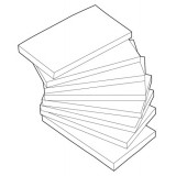 Image for Basics Repositionable Notes 75x127mm Yellow [Pack 12]
