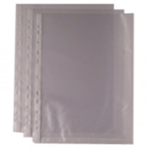 A4 Clear Punched Pockets Pk100
