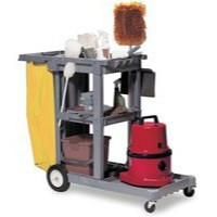 Struct-O-Cart Grey Mbl Cleaning Trolley