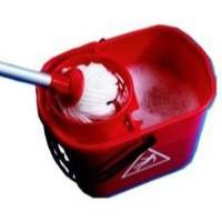 2Work Red 15L Mop Bucket Wringer