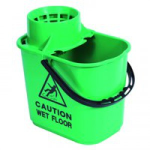 2Work Blue Mop Bucket Wringer 15L