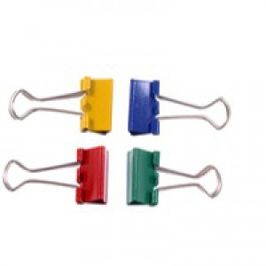 Assorted 19mm Foldback Clip Pk10