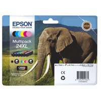 Epson 24XL Inkjet Cartridge Multipack Capacity 55.7ml B/C/M/Y/LC/LM Ref T24384010 [Pack 6]