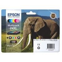 Epson 24XL Inkjet Cartridge Multipack Capacity 55.7ml B/C/M/Y/LC/LM Ref T24384010 [Pack 6]