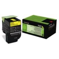Lexmark Laser Toner Cartridge Return Program Page Life 1000pp Yellow Ref 70C20Y00