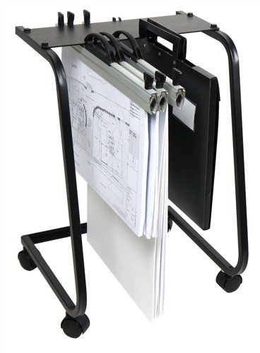 Arnos Hang-A-Plan General Front Load Trolley for 15 Binders A2 A3 Ref D062