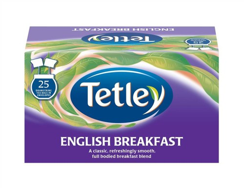 Tetley Tea Bags English Breakfast Drawstring in Envelope Ref 1278 [Pack 25]