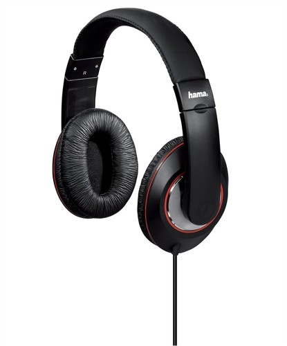 Headphones Padded Over-Ear Stereo 5m Cable Black