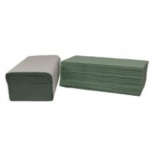 Image for 2Work 1-Ply Green I-Fold 242X222mm Pk3600