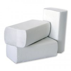 2Work White 1Ply Multi Hand Towel Pk3000