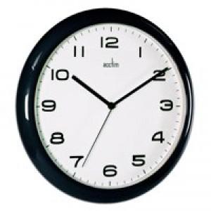 Acctim Black Aylesbury Wall Clock 92/302
