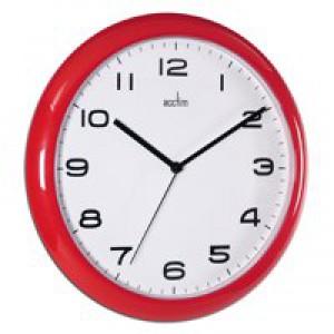 Acctim Red Aylesbury Plastic Wall Clock