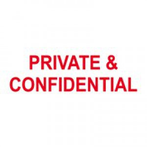 Colop Word Stamp PRIVATE + CONFIDENTIAL