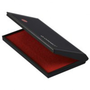 Q-Connect Red Large Stamp Pad Metal Case