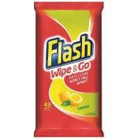 Flash Wipe + Go Lemon Wipes Pk40