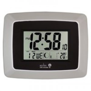 Image for Acctim Avanti Rc Desk Clock Silv/Blk