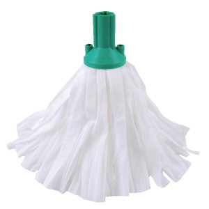 Std Big White Exel Mop Green Pk10