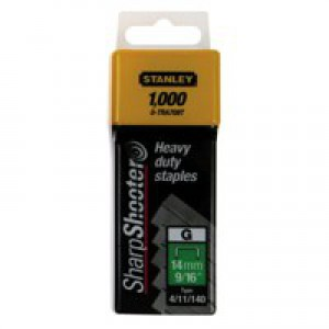 Image for Stanley 10mm Staples Pk1000 1-Tra706T (0)
